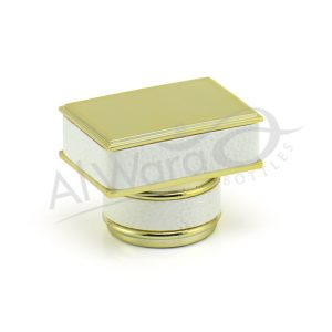 AWC-00947 WHITE LEATHER GOLD