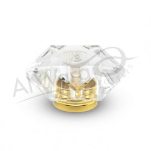 AWC-00051 Clear W-Gold Ring