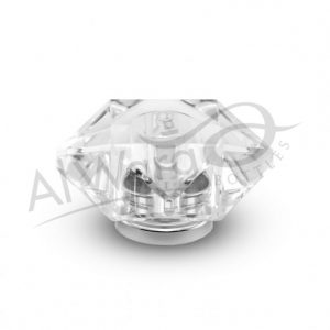 AWC-00051 Clear W-Silver Ring