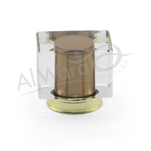AWC-00120 BROWN W-GOLD RING