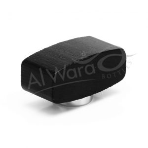 AWC-00522 BLACK WOOD W-SILVER RING