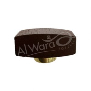 AWC-00522 DARK BROWN SHINY GOLD RING