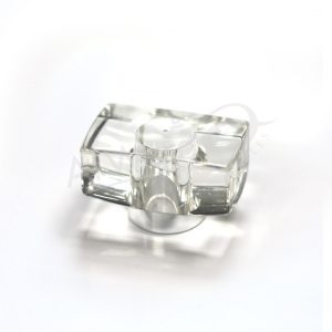 AWC-00884 CLEAR SURLYN W-SILVER RING (Dy)