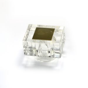 AWC-00821 CLEAR GOLD PLATE